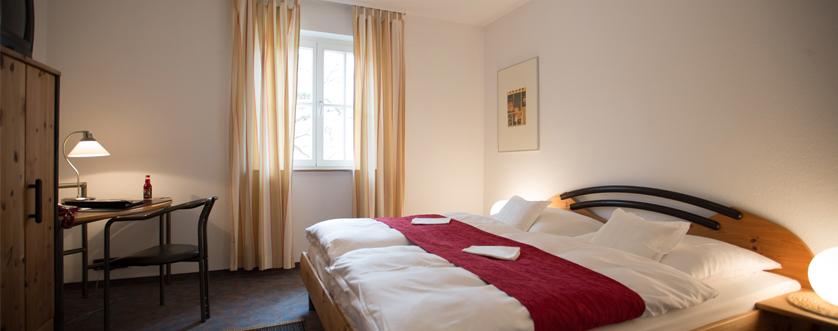 Gästehaus Schlafzimmer Hotel Bürkle